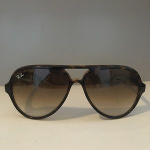 Ray-Ban Tortoise Shell RB4125 CATS 5000 Sunglasses